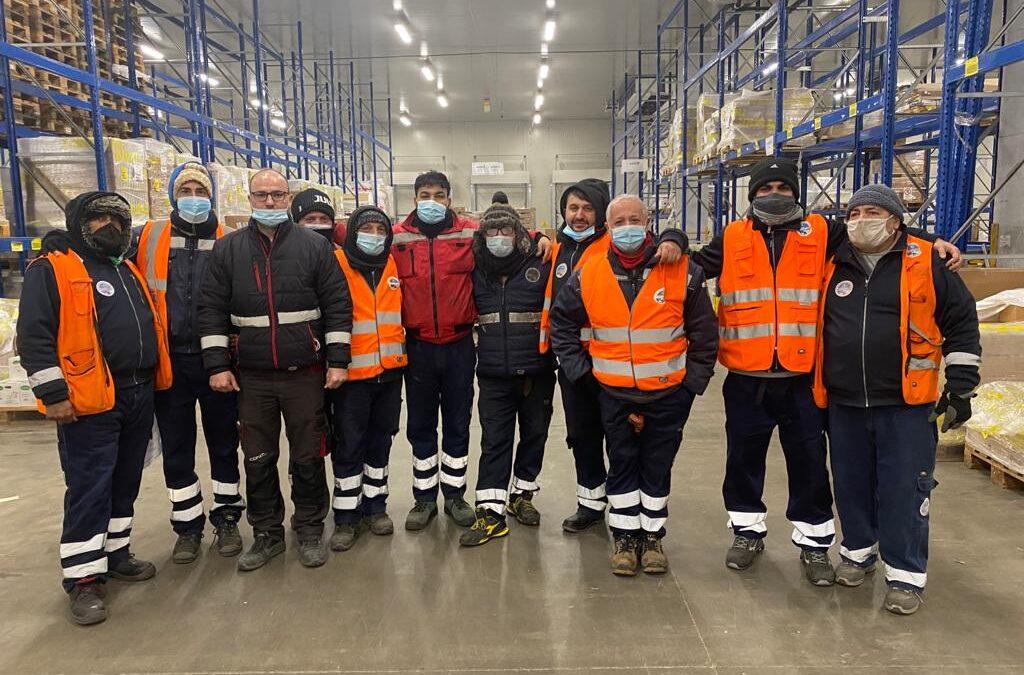 il Nostro Team al magazzino di Prato